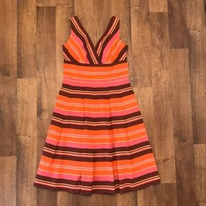 Talbots fully lined sundress with zipper back